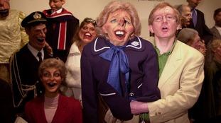 The Margaret Thatcher puppet with voice artist Steve Nallon