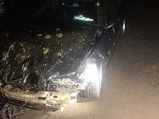 The driver of the BMW was unharmed but 'very shaken'.