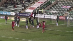 Player suspended after Argyle ball boy 'shoved to ground' during match
