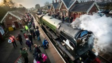 5,500 ride steam train's first 3 days in 50 years