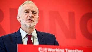 Jeremy Corbyn speaks at Warwick University.