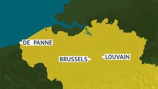 Leuven, or Louvain, is where the train derailed.