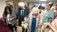 Never too late for love: pensioners finally tie the knot