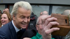Politician Geert Wilders posed for selfies with supporters