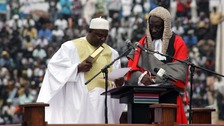 Gambia: Adama Barrow sworn in as president