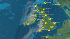 Milder across the UK