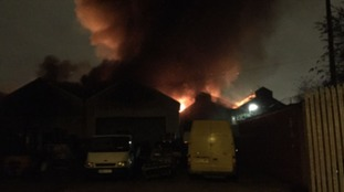 Fire at commercial unit in Openshaw