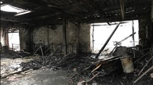 Damaged commercial unit