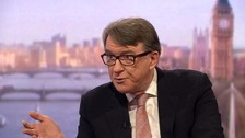 Lord Mandelson: 'Voters feel ignored over Brexit'