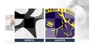 Munster end Ospreys' 13-match unbeaten run