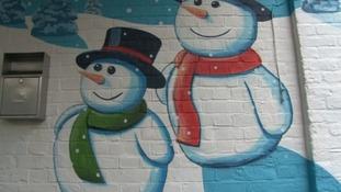 Snowmen mural