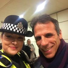Gianfranco Zola at Birmingham new Street Station