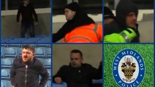 The force has released these images of the five men they want to speak to.