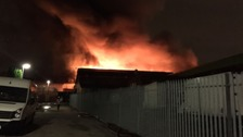 Fire at Industrial units in Openshaw
