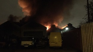 Fire at industrial units in Openshaw.