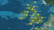 Weather: Windy and mild as temperatures reach 14C