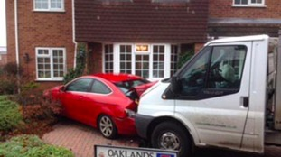 Drunk milkman crashes into house and car causing £40,000 damage