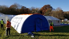 Hampshire firefighters help create mobile field hospital