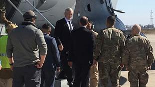 US defence secretary makes unannounced visit to Baghdad