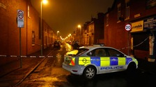 Two men arrested after man injured in Moss Side shooting