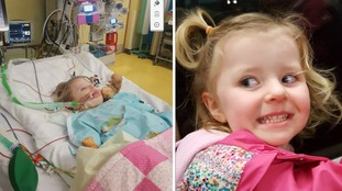 Little girl fights for her life after contracting a strain of the flu