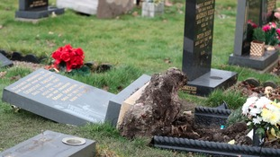 There have been at least two separate incidents of vandalism to headstones at Hebburn Cemetery