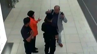 Kim Jong-nam was filmed reporting the attack to airport security staff.