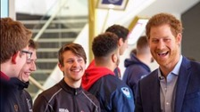 Apprentices meet Prince Harry at Twickenham event