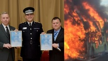 Officer who saved children from burning bus awarded