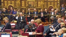 Prime Minister looks on as Lords debate Brexit bill