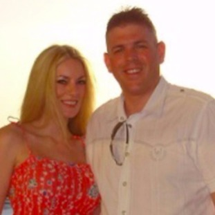 Lindsey Briggs and her late husband, Paul.