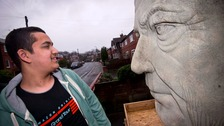 Giant 8ft sculpture of Jeremy Clarkson's leaves residents in Salford stunned
