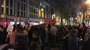 Cardiff protest