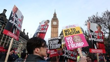 Protests as MPs debate Trump state visit