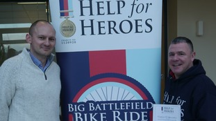 Help for Heroes Director of Fundraising, Alistair Lockhart with North Yorkshire veteran, Justin Henderson