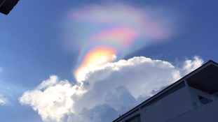 Rare 'fire rainbow' phenomenon spotted over Singapore