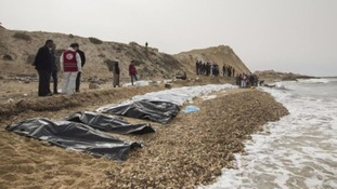 Dozens of drowned migrants wash ashore from Mediterranean