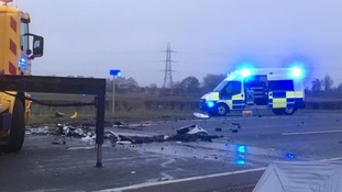 The crash on the A689.