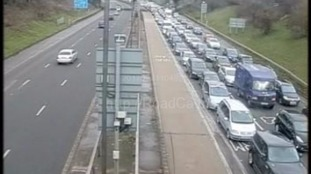 Traffic has been building on the M4 eastbound