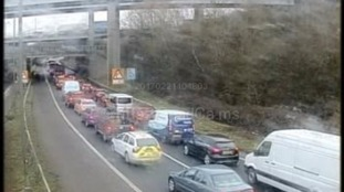 The link road has opened but M4 J4 eastbound is still closed
