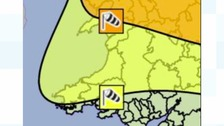 Amber warning of strong winds issued for Wales
