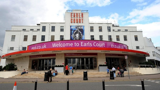Earls Court Exhibition Centre in London.