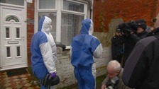 Forensic officers arrive at Christopher Halliwell's former home in Swindon