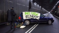 Runway protesters cleared from road leading to Heathrow