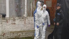 Forensic officers continue searching home of murderer