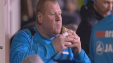 Sutton's pie-eating goalkeeper denies betting accusation