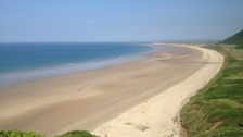 Rhossili Bay named in UK's top ten beaches