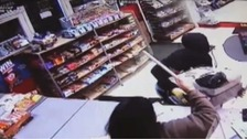 Grandparents fight off armed robber at newsagents