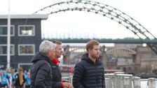 Prince Harry on the Gateshead Quayside