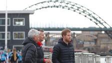 Prince Harry on the Gateshead Quayside